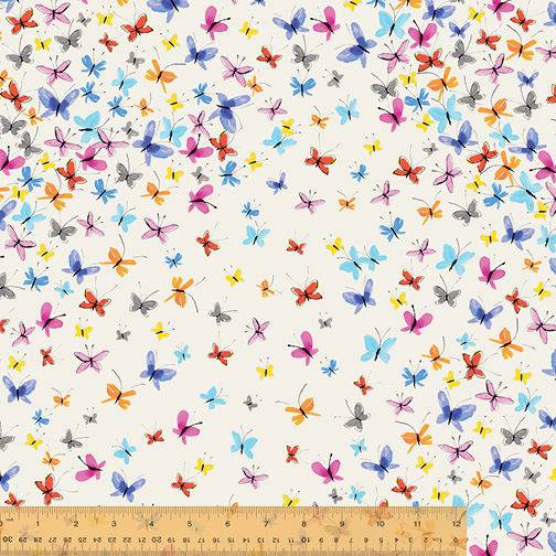 painted butterfly print fabric sold by Color Girl Quilts