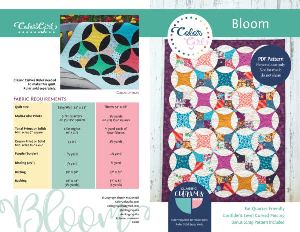 bloom quilt pattern by color girl quilts