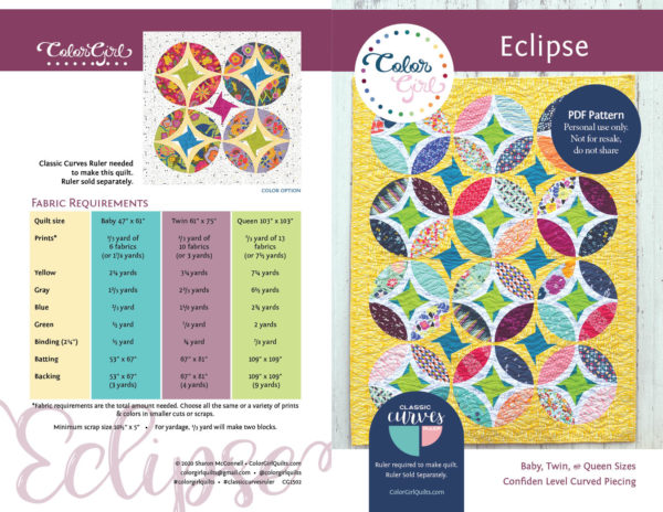 eclipse quilt by color girl quilts