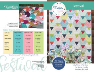 festival triangle quilt pattern by color girl quilts