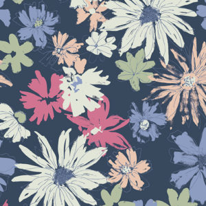 Sketchbook floral fabric by Art Gallery Fabrics sold by Color Girl Quilts