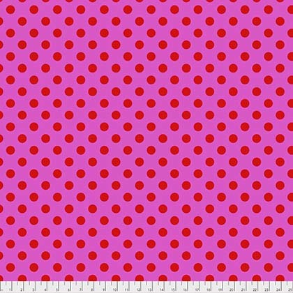 Tula Pink pom poms polka dots fabric sold by Color girl Quilts