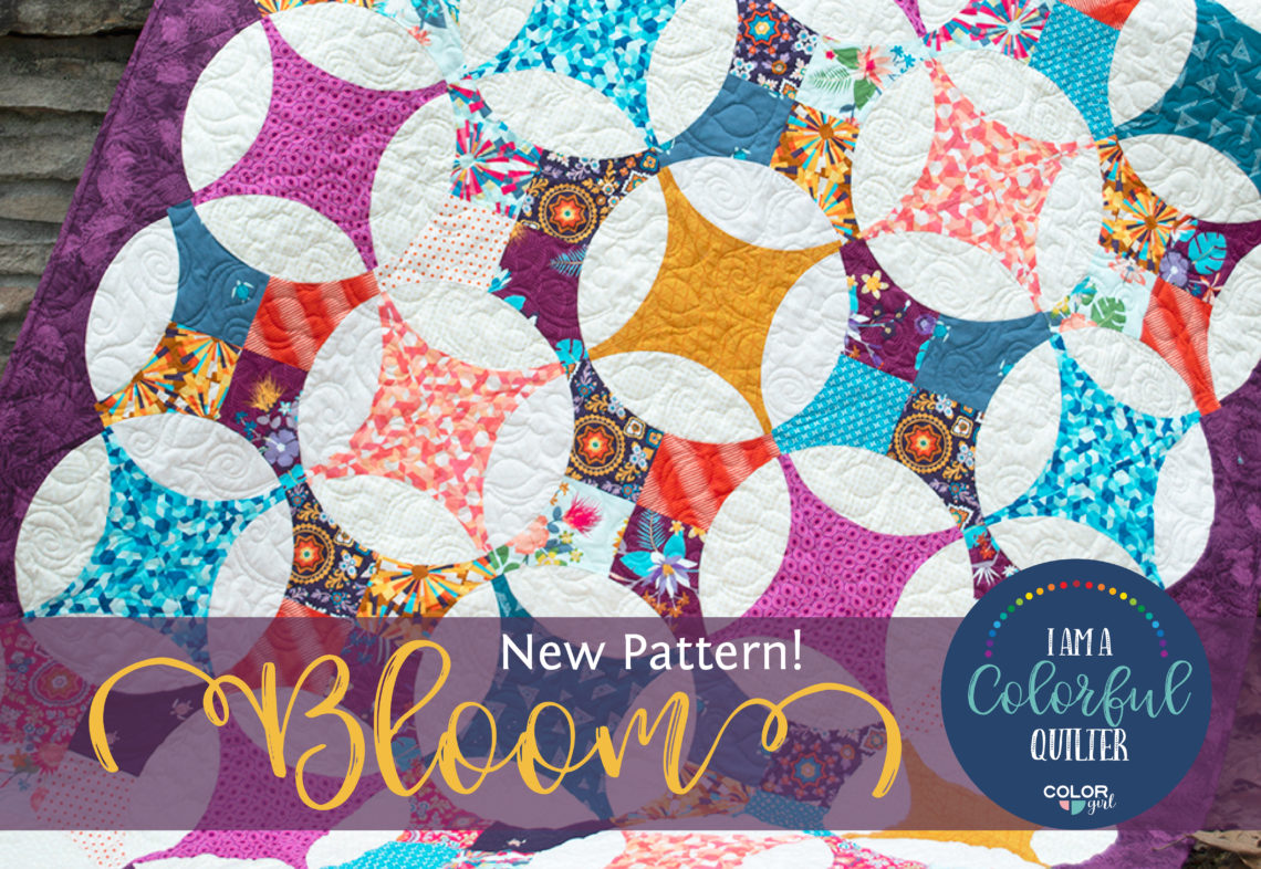 flowering snowball Bloom quilt pattern by Color girl Quilts