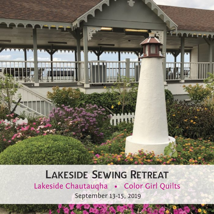 lakeside retreat with Color Girl Quilts at Lakeside Chautauqua