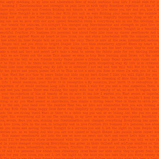 orange text Sun print by Alison Glass sold by Color Girl Quilts
