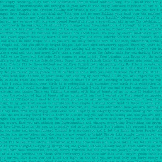 turquoise text Sun print by Alison Glass sold by Color Girl Quilts