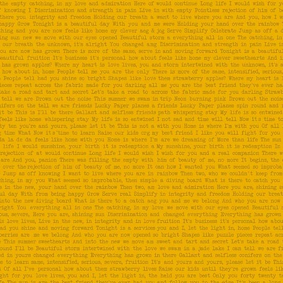 yellow text Sun print by Alison Glass sold by Color Girl Quilts
