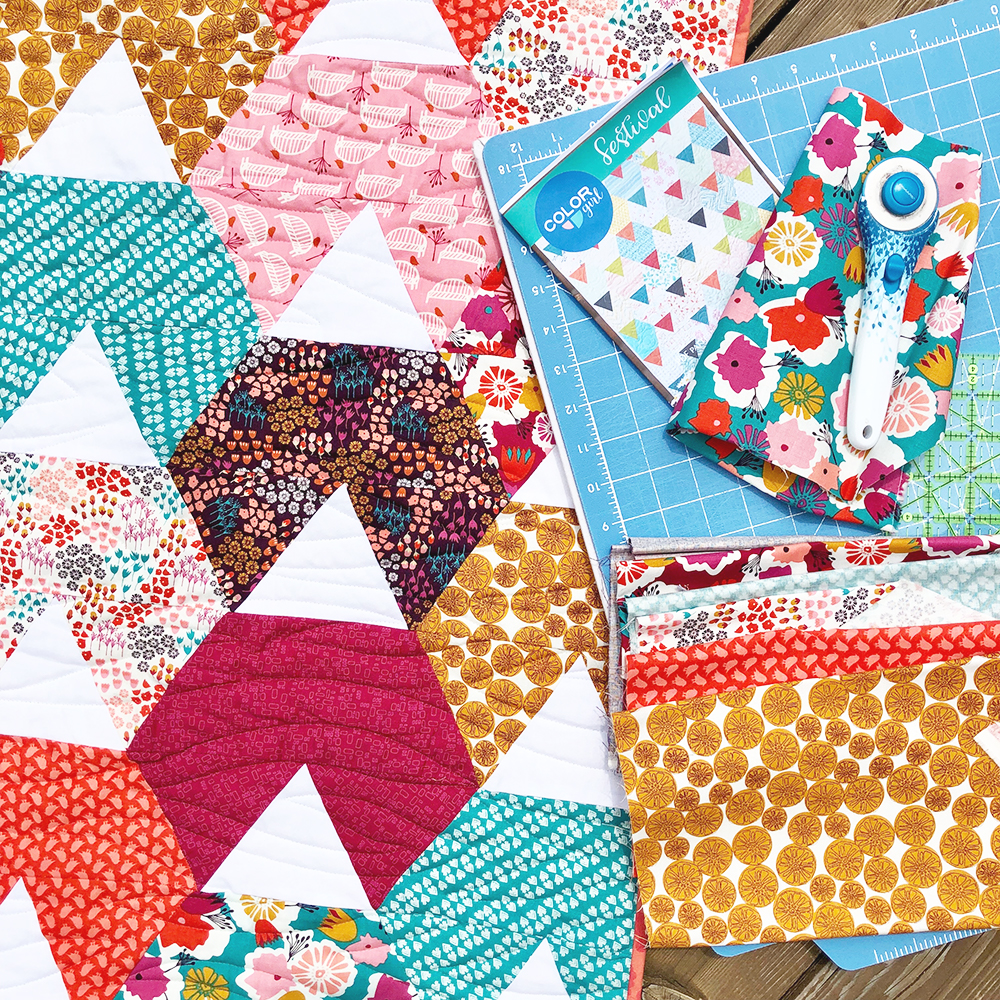 Festival Quilt by Color Girl Quilts