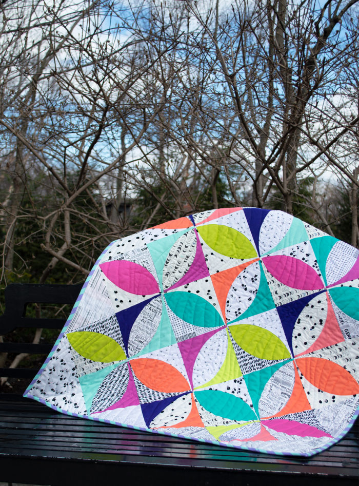 how to cut and sew and orange peel quilt by Color girl Quilts