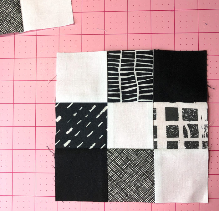 two color black and white quilt by Color Girl quilts