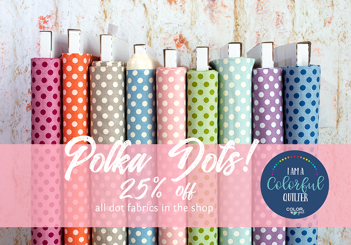 polka dot fabrics on sale color girl quilts fabric shop