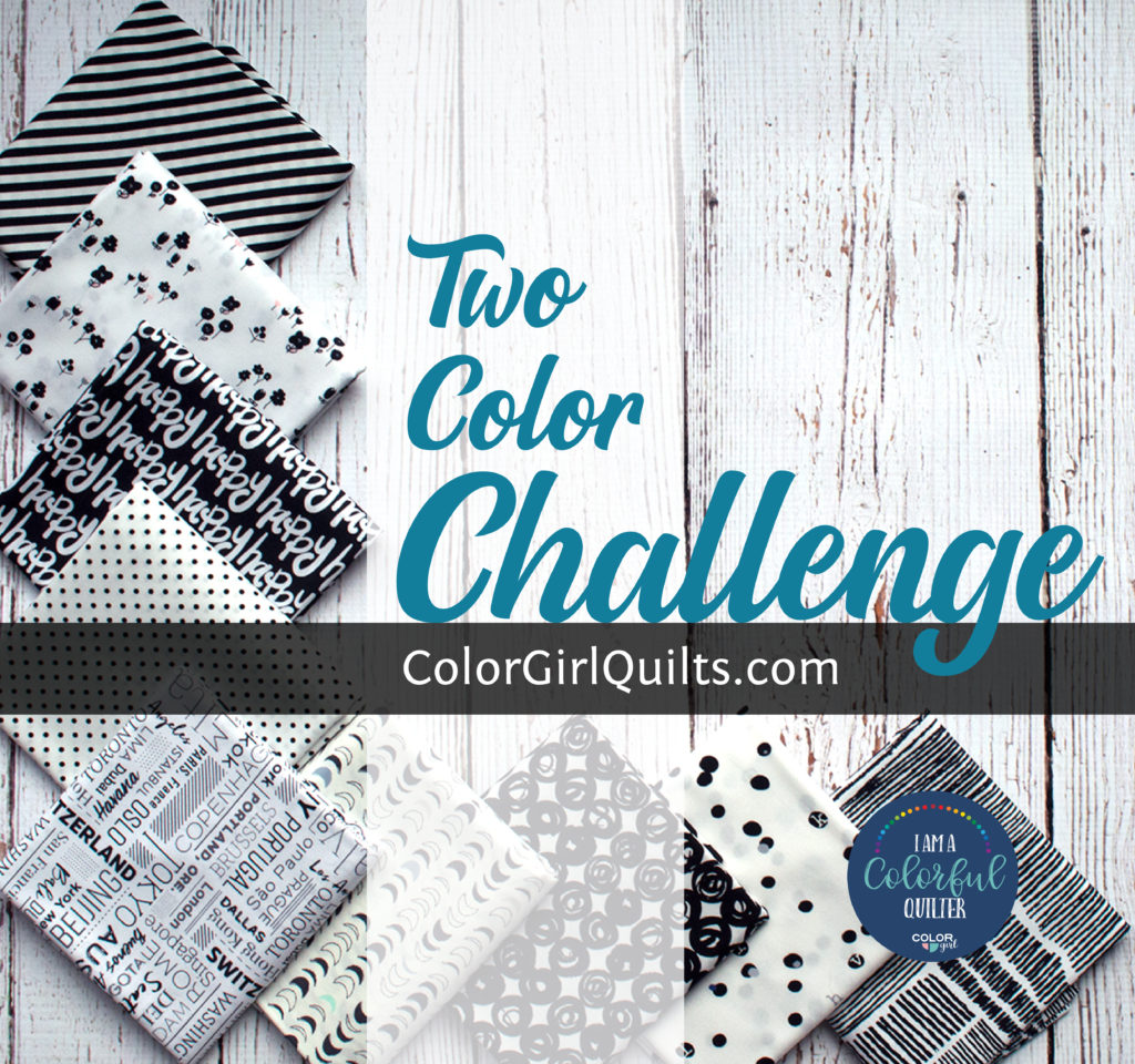 two color quilt challenge by Color Girl Quilts