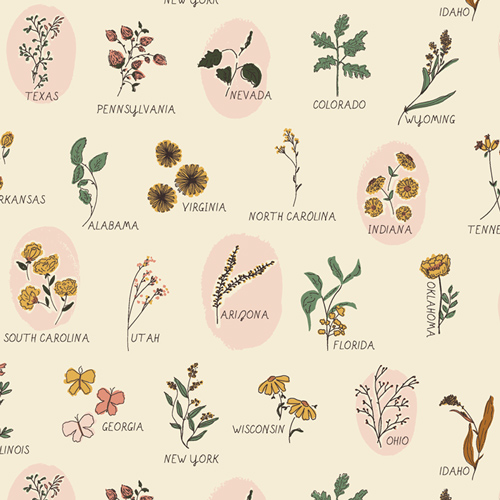 Roadside wildflowers fabric by Bonnie Christine Art Gallery Fabrics sold by Color Girl Quilts