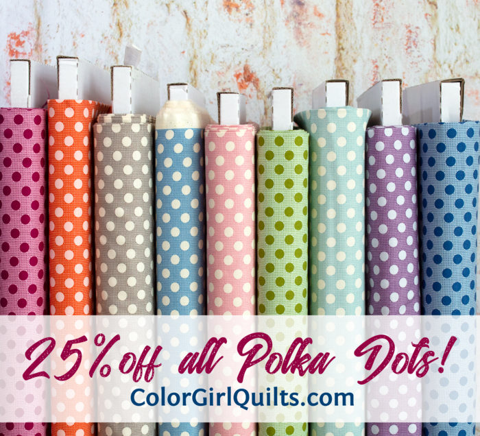 Tilda Fabrics polka dots sold by Color Girl Quilts