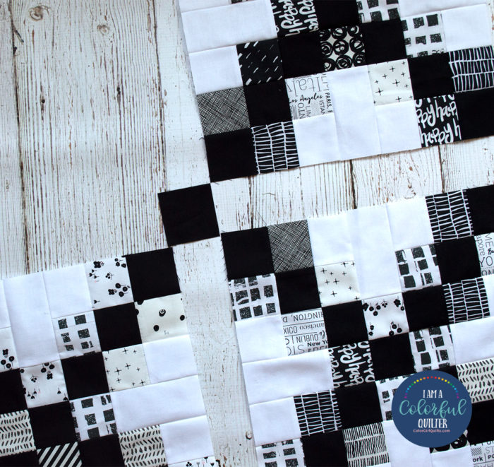 irish chain quilt block by Color girl Quilts with tutorial