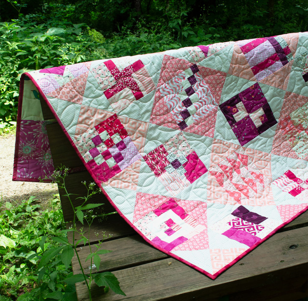 easy modern sampler quilt free pattern by Color girl Quilts