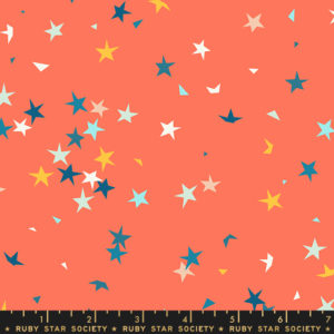 starfetti peach fizz by Rashida Coleman Hale sold by Color girl Quilts