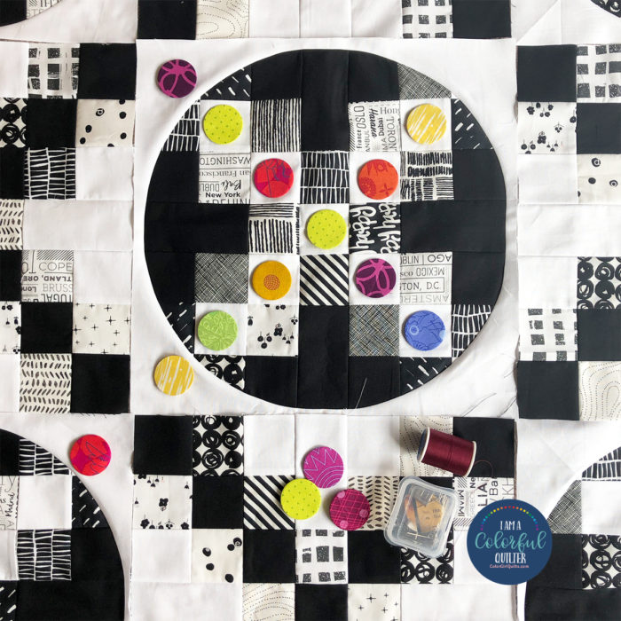 Black and white Irish chain quilt by Color girl Quilts Sharon McConnell
