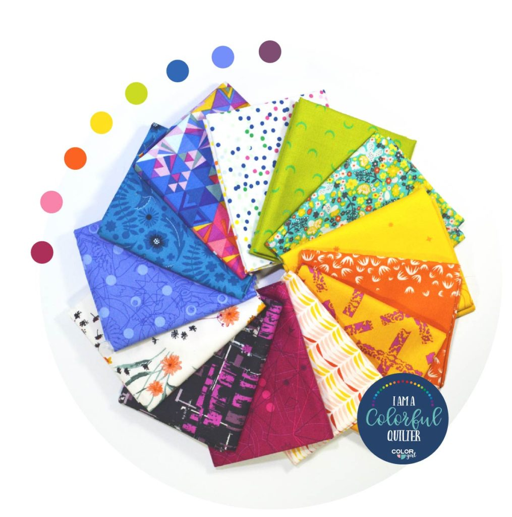 Bright fabric bundle sold by Color Girl Quilts