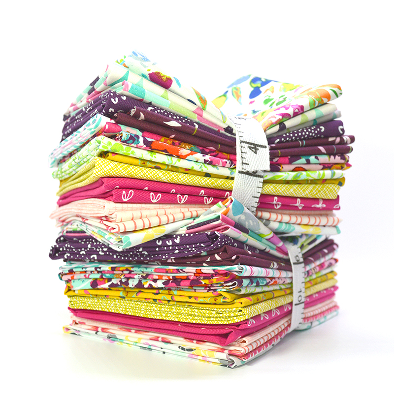 curated fat quarter bundle for quilters sold by Color girl quilts