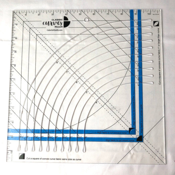 How to cut a full circle from fabric with the Classic Curves Ruler