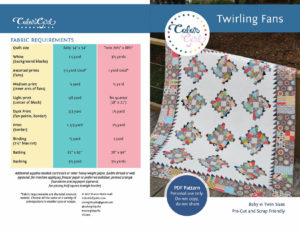 Twirling fans quilt pattern by color girl quilts.