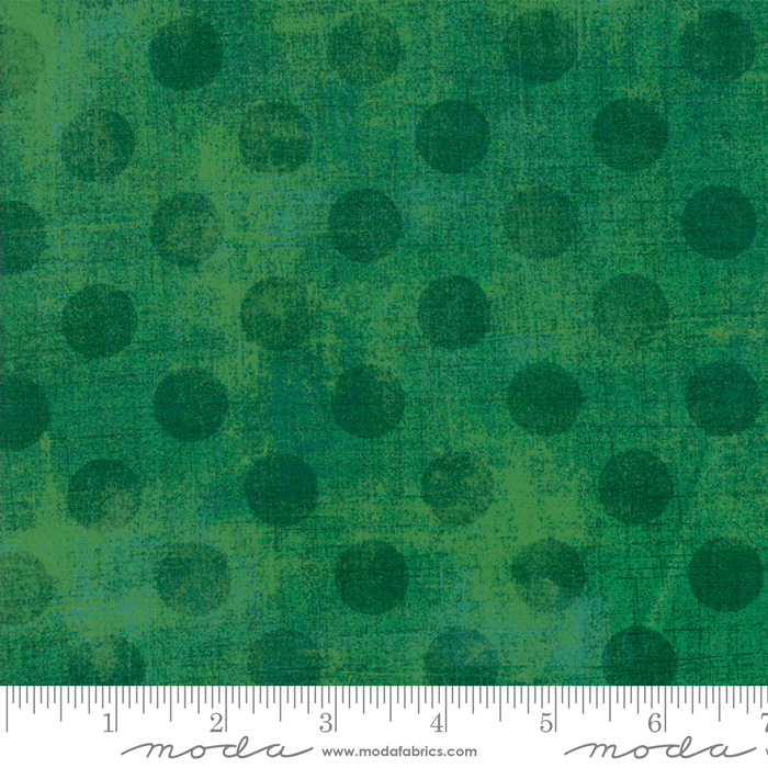 Green White Dots by the Half Yard 100/% Cotton Quilt Fabric