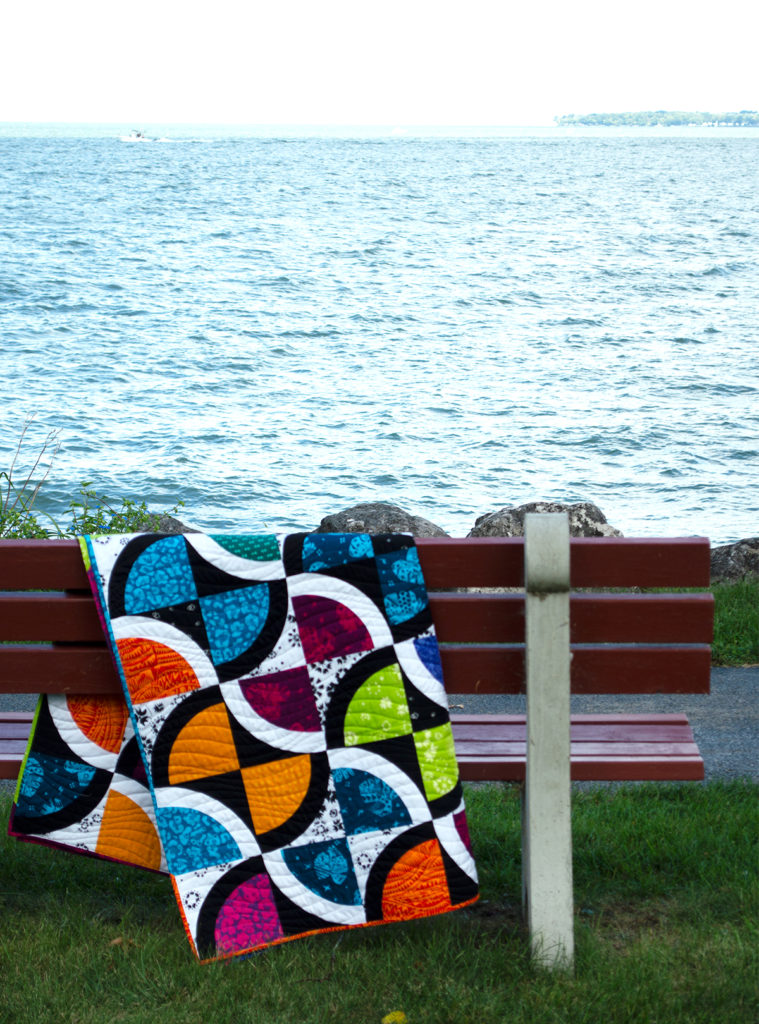 Untamed quilt by Sharon McConnell color girl quilts