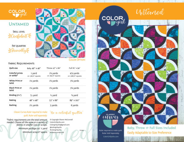 Untamed quilt pattern by Color Girl Quilts