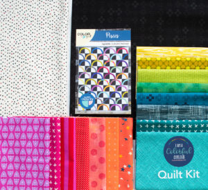 Pisces pattern quilt kit of fabrics sold by Color Girl Quilts