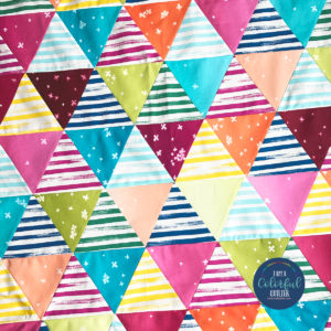 video how to sew 60 degree triangle quilt by Color Girl Quilts