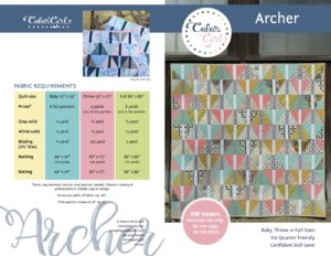 Archer quilt triangle patchwork pattern by color girl quilts