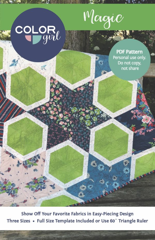Magic star quilt pattern by Color Girl Quilts