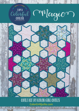 Magic star quilt pattern kit by Color Girl Quilts