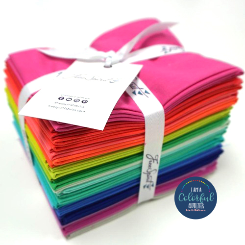Tula Pink solids colors fabric bundle sold by Color Girl Quilts