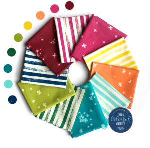 ombre bloom and zip stripes fabric bundle sold by Color Girl Quilts