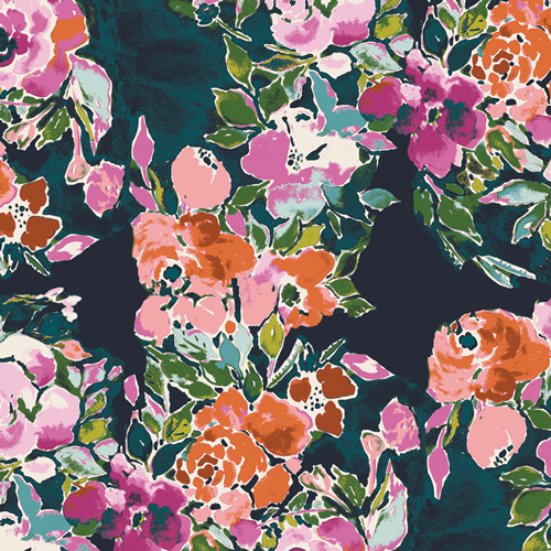 Bari J floral fabric sold by Color Girl Quilts