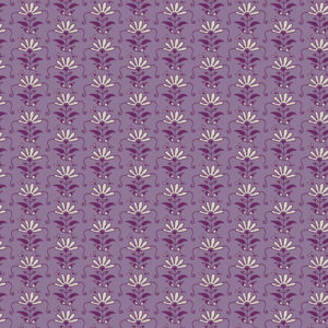 Mystical land purple floral print by Maureen Cracknell sold by Color Girl Quilts