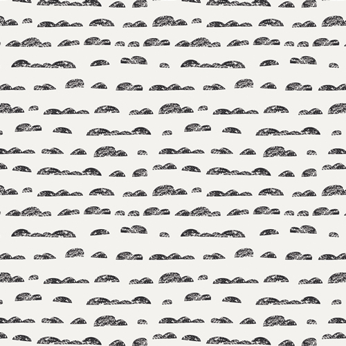 Cloud print black and white fabric by Art Gallery fabrics sold by color girl quilts