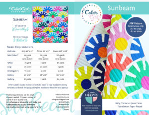 Sunbeam quilt pattern for Classic Curves Ruler by Color Girl Quilts