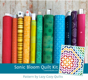 Sonic Bloom quilt kit sold by Color Girl Quilts
