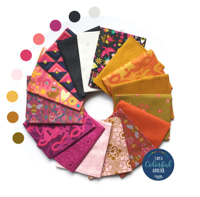 Alison Glass fabrics bundle warm autumn colors sold by Color Girl quilts