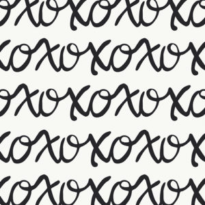 X O text print by Art gallery fabrics sold by Color Girl quilts