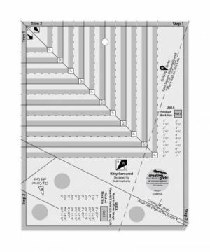 creative grids kitty cornered ruler sold by Color Girl quilts
