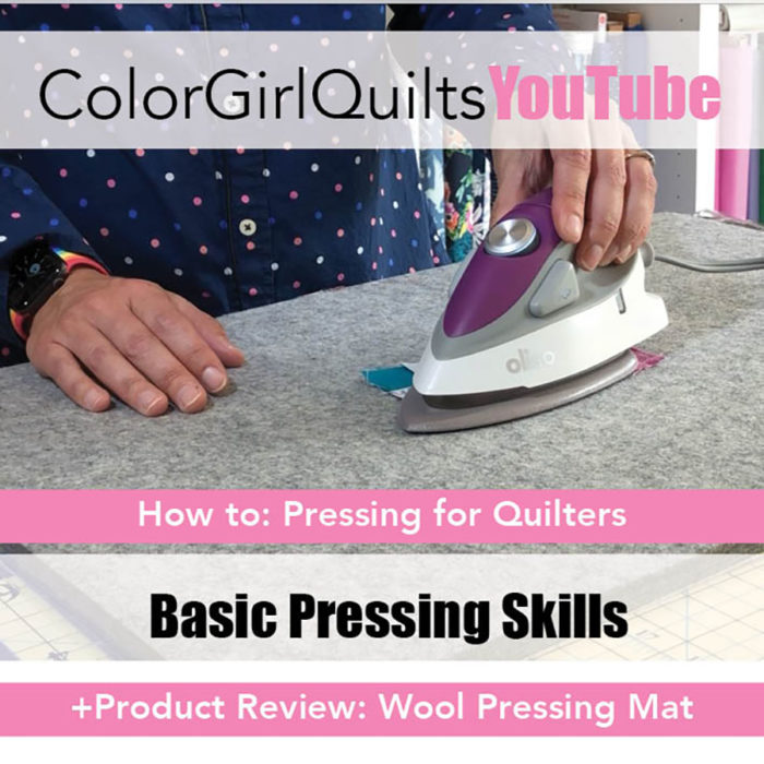 how to press for quilters by Color girl Quilts