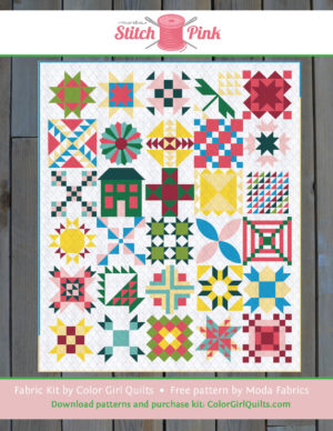 Stitch Sampler Quilt kit by Color Girl Quilts