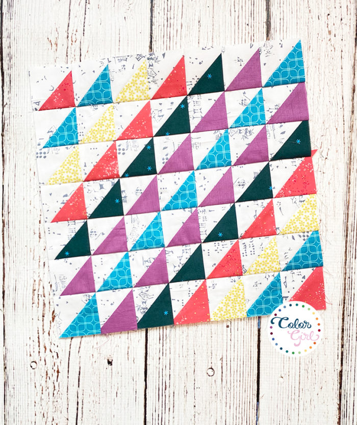 how to sew half square triangles for quilt block