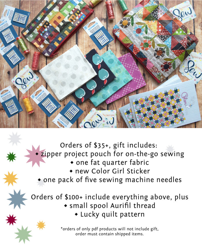Color Girl Quilts free gift with purchase