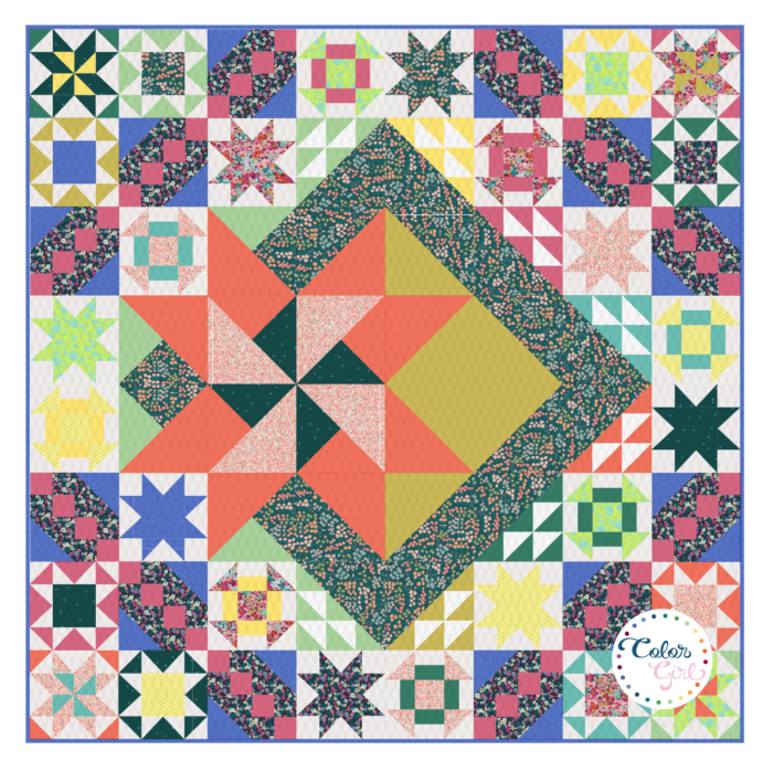 Rise above quilt along by Color Girl quilts
