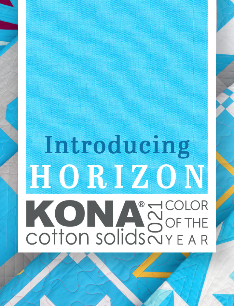 Kona cotton color of the year horizon with coordinating fabrics by color girl quilts